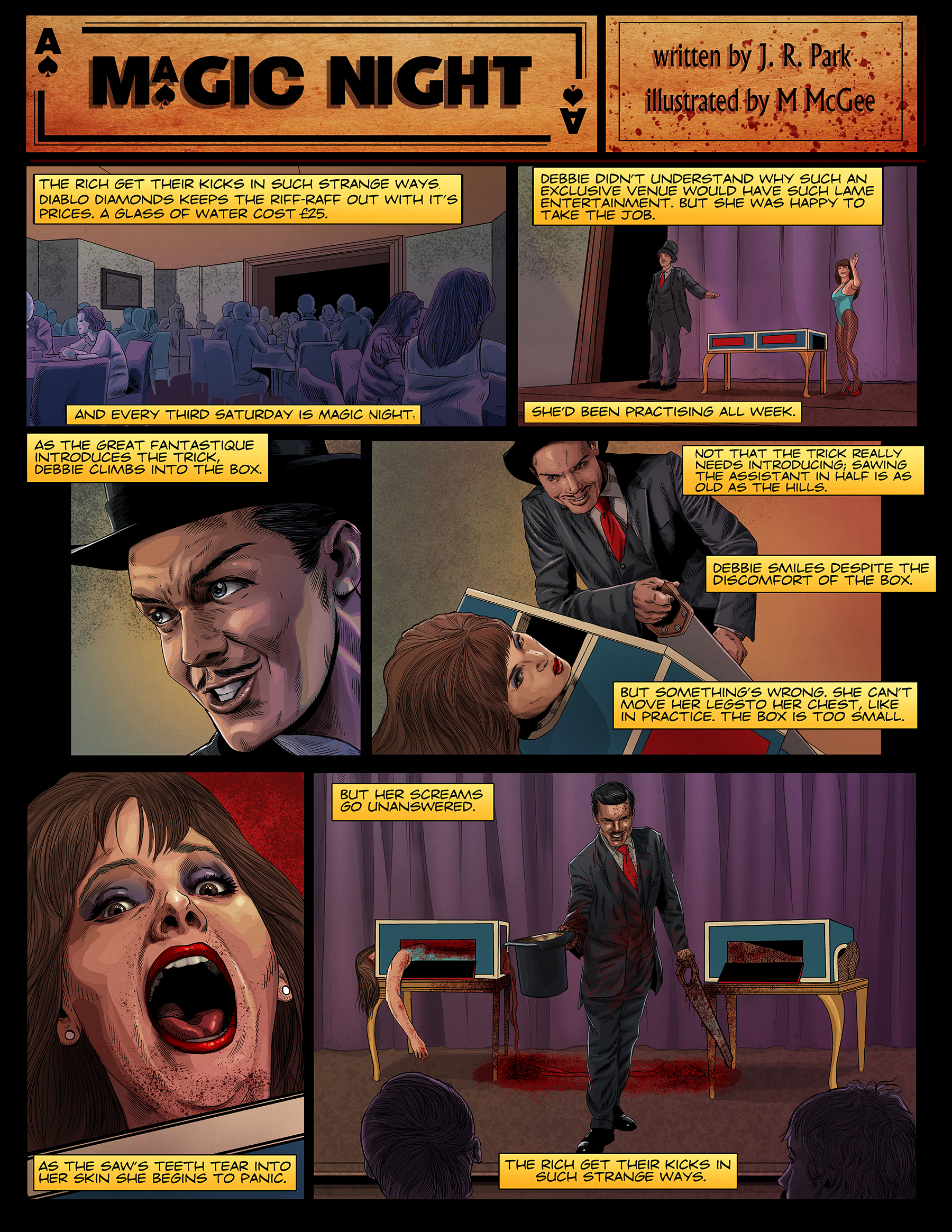 Magic Night Comic Page