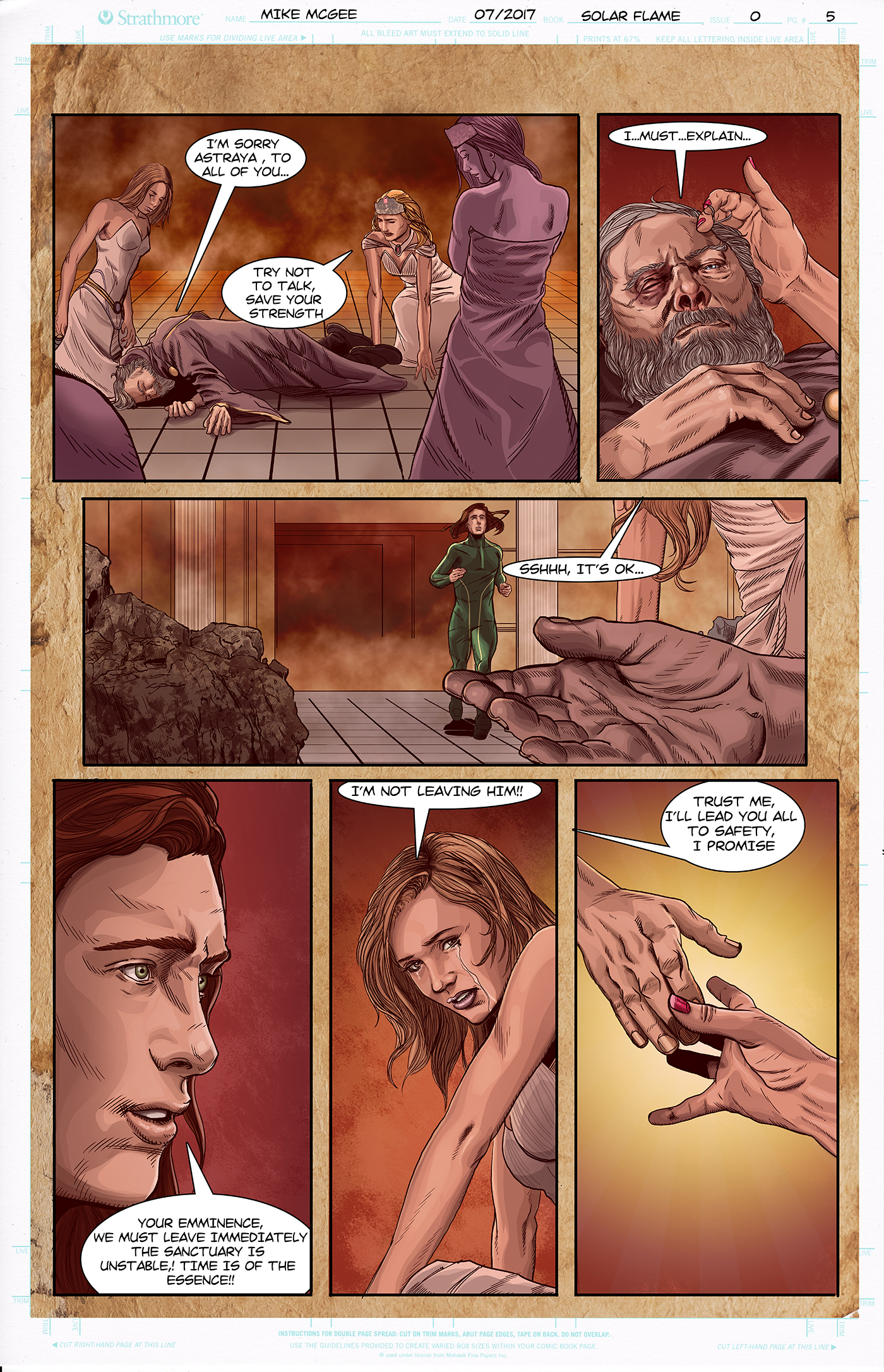 Solar Flame Comic Page
