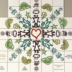 DONOR RECOGNITION ART TILE WALL IMAGINE