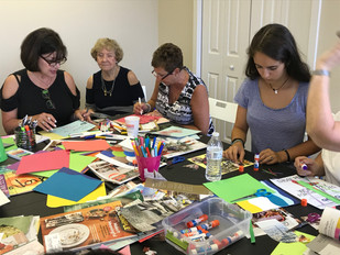 Forward College Counseling staff and consultants make art for charity