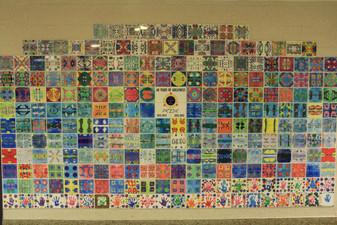 The ever expanding Mandala Tile Wall at Woodside Elementary