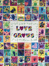 Love Grows is the theme of this legacy wall created in 2014 by preschoolers at Temple B'nai Jeshurun in NJ