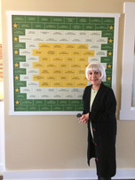 Donor Recognition Tile Wall for the Rona Barrett Foundation's affordable housing in Solvang California