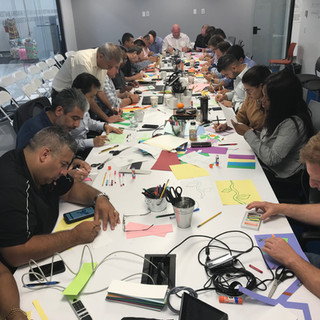 Staff from around the world at Kornit Digital getting creative to make tiles for the Audrey Hepburn Childrens Center at Hackensack Memorial Hospital to decorate the exam rooms
