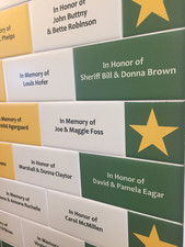 DONOR RECOGNITION TILE WALL RONA BARRET