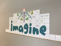 DONOR RECOGNITION ART TILE WALL IMAGINE.