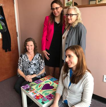 ArtWare and Dorothy's Red Shoes presenting HealingSpaces in Bergen County with a tile table