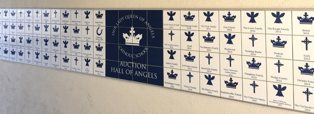 Our Lady Queen of Angels recognizes donors each year offering a choice of template to each donor