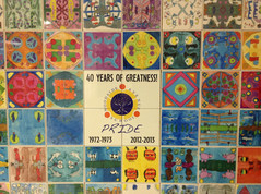 Woodside Elementary in Franklin Lakes NJ - adds mandalas each year to their Legacy Tile Wall