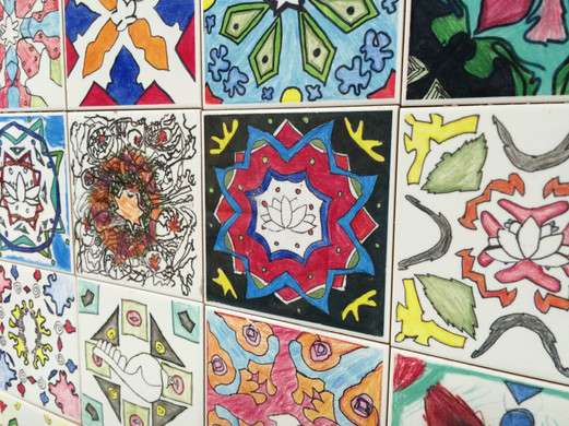 Mandalas of Peace hang in Lumbini Nepal and at the Joyce Kilmer School in Mahwah NJ
