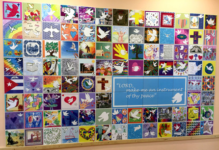 Creating a Legacy of ever lasting peace with this tile wall at Baptist Church of the Valley in PA