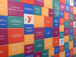 DONOR RECOGNITION TILE WALL YMCA .JPG