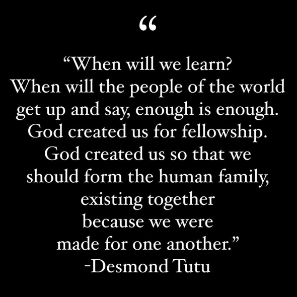 A quote from Desmond Tutu
