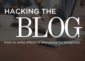 Hacking the blog