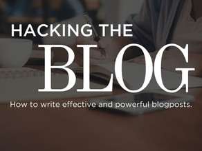 Hacking the blog