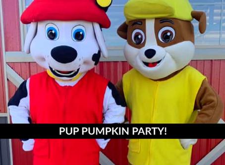 Pup Pumpkin Party at Pleasure Valley Pumpkin Farm!