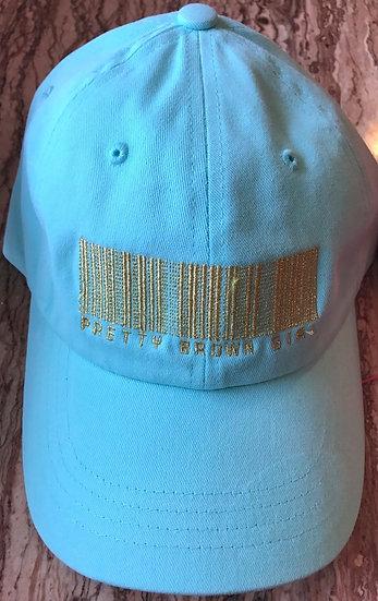 Baby Blue Pretty Brown Girl Hat