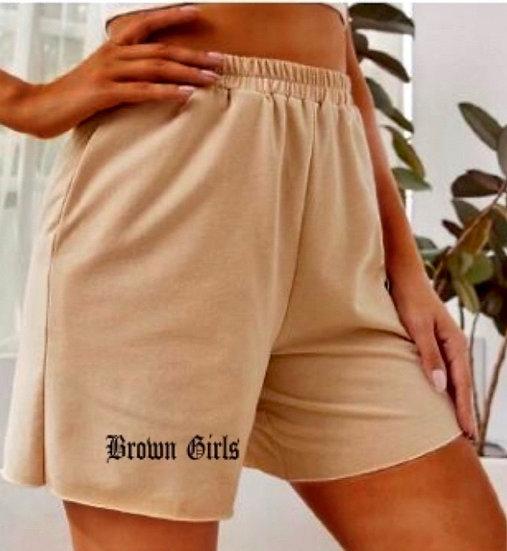 Brown Girls Tan shorts