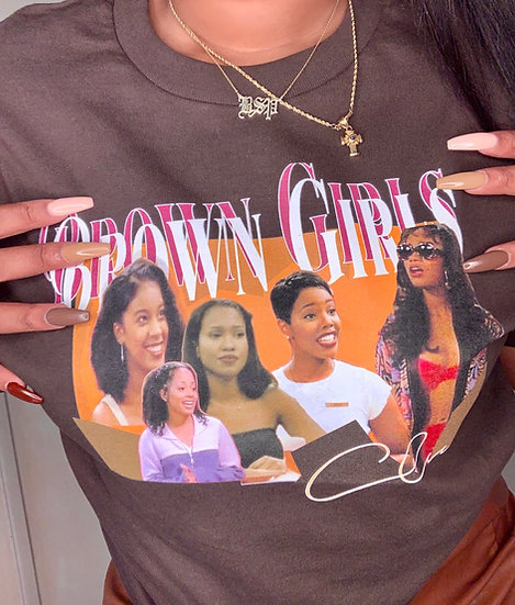 Brown Girls Graphic Tee 90s
