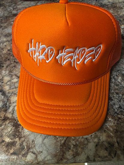Hardheaded vibes Orange/white