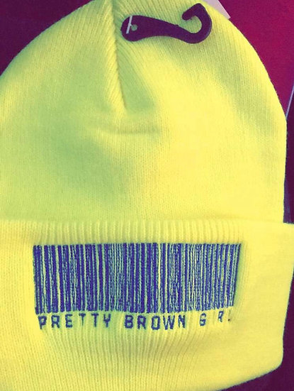 Neon yellow and blue Pretty Brown Girl Beanie