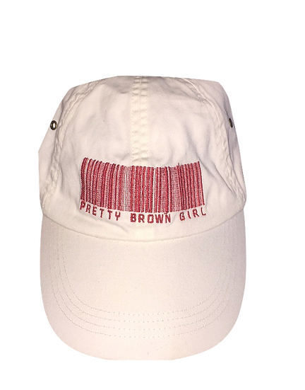 Pretty Brown Girl Hat ( White/Red)