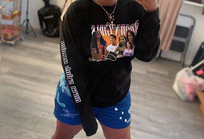 (Black) Brown Girls Club Graphic Tee long sleeve