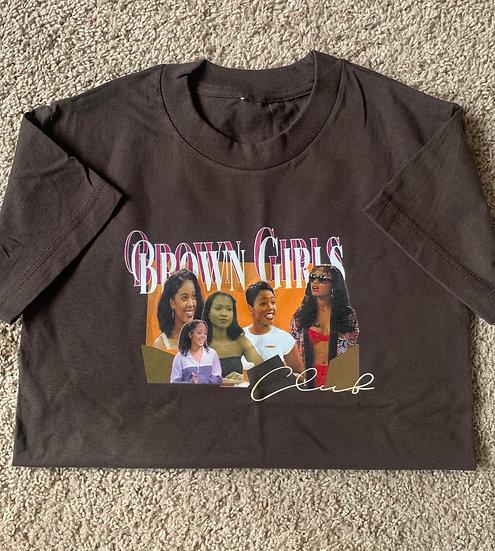 Kids Brown Girls Graphic 90s tee