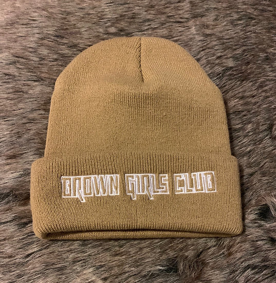 Brown Girls Club Tan Beanie