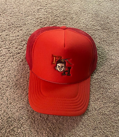 Red Hard Headed hat
