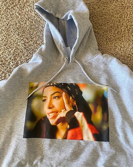 Aaliyah hoodie grey