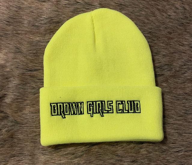 Brown Girls Club Neon Beanie