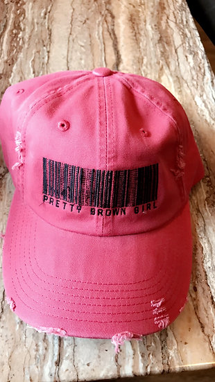 Distressed Red Pretty Brown Girl hat