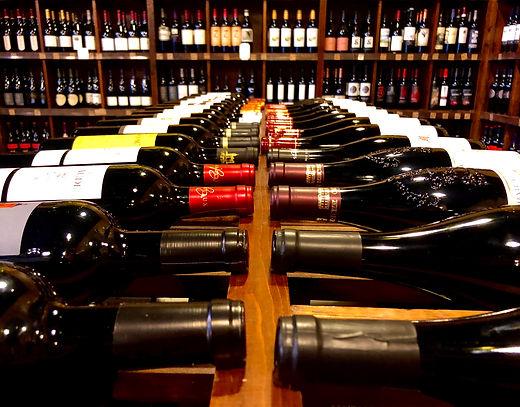 Wine bottles at Orion Wine & Spirits