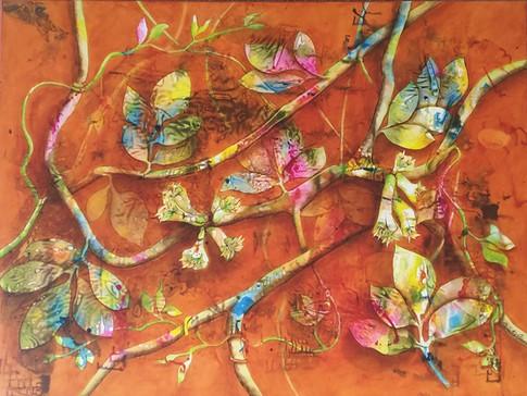 Three Kings Vine - SOLD - 90cm x120cm - Acrylic