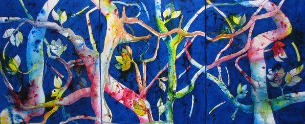 Branching Out - $700 - 50cm x 40cm - Acrylic - 3 total 500 x 1200 Triptych - AVAILABLE