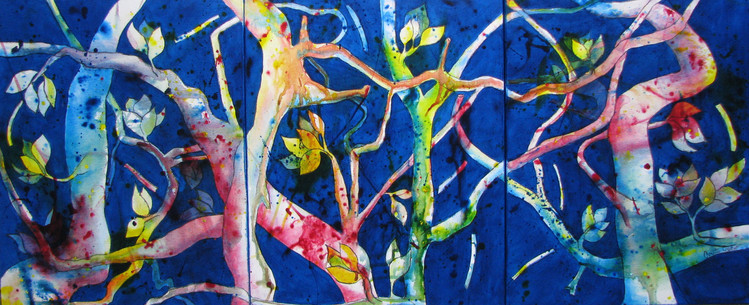 Branching Out 500x400 3 total 500 x 1200 Triptych - Available
