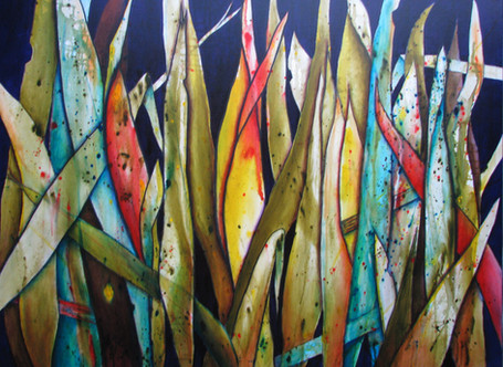 Punakaiki Flax - SOLD - 90cm x 120cm - Acrylic - See prints page for A3 print version
