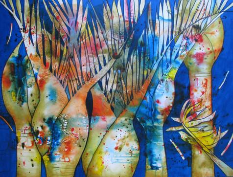 Nikau Dreams 900 x 1200 Acrylic - Sold - Available as A3 Fine Art Print