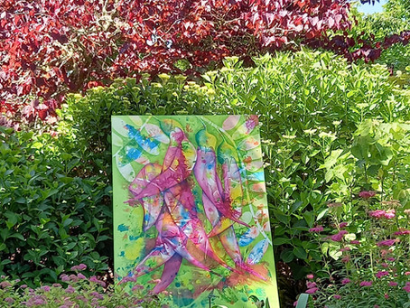 Blooming Gardens and Positively Blooming Art!