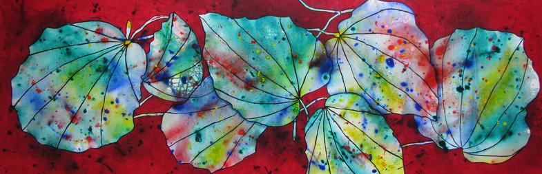 Kawakawa Colours 500 x 1500 Acrylic - Sold