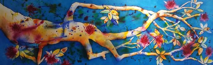 Te Araroa Treasure $900 - 50cm x 150 cm - Acrylic - AVAILABLE