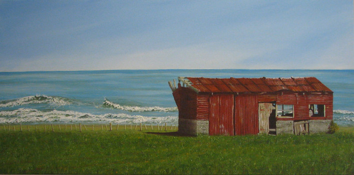 Room with a View - Acrylic - SOLD at Macandmor