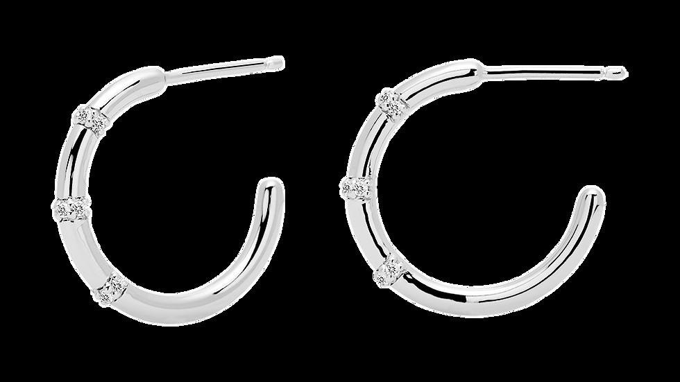 Pendientes plata circonitas