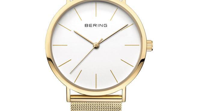 Rellotge Bering acer daurat. Reloj Bering acero dorado.
