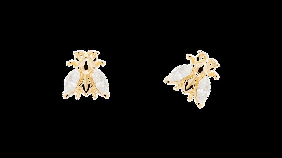 Pendientes PdPaola plata chapada y circonitas