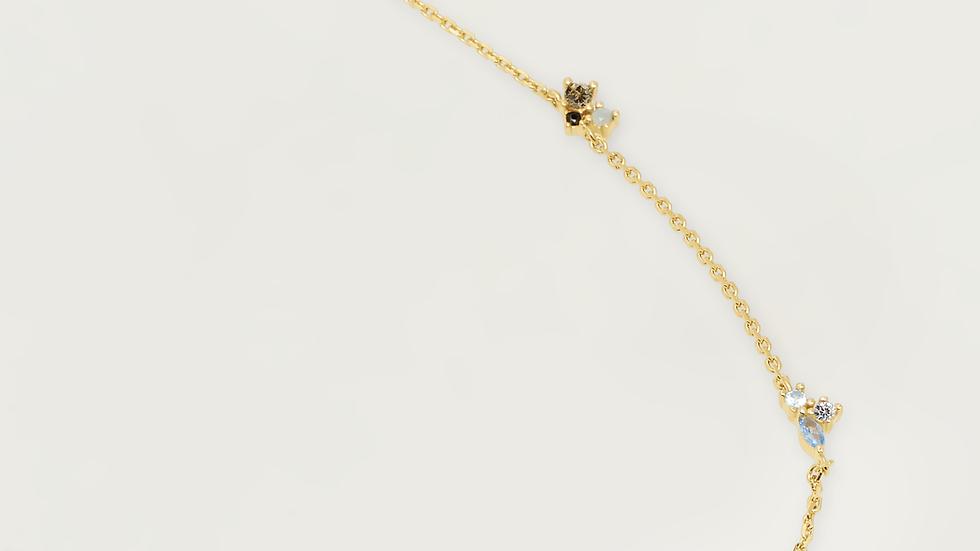 Colgante PPAOLA plata con acabado dorado