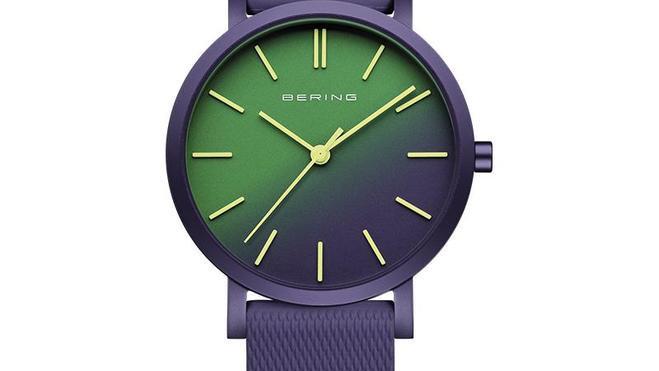 Rellotge Bering alumini morat.Reloj Bering aluminio morado.