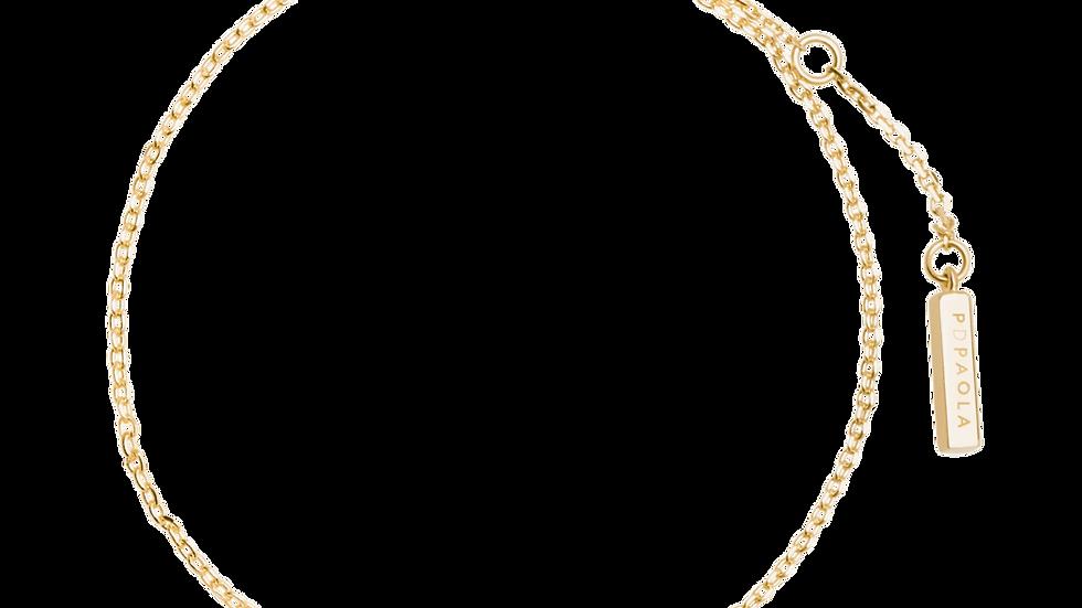 Pulsera PPAOLA plata baño dorado, circonita