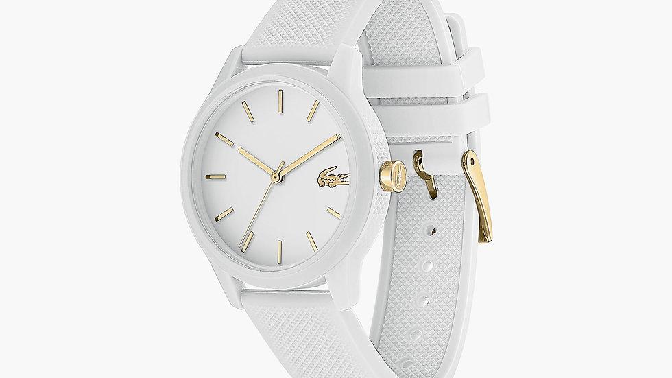 Reloj Lacoste correa silicona blanca
